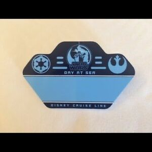 "Disney cruise Line Star Wars ""Day at Sea"" Name Tag"